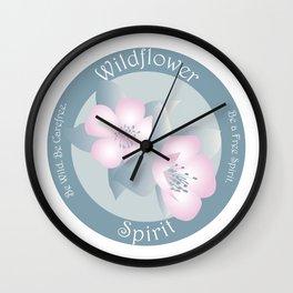 Wildflower Spirit - Boho Breeze Wall Clock