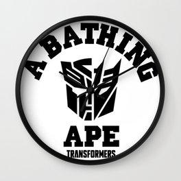 A bathing ape transformers Wall Clock