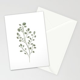 Green plant Stationery Cards