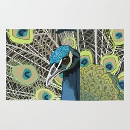 Hank the Peacock Rug