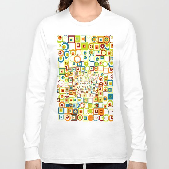 Retro Quarters + Rings Long Sleeve T-shirt