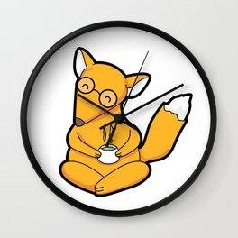 Little Fox Tea Time Wall Clock