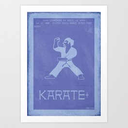 Retrogaming - International Karate + Art Print