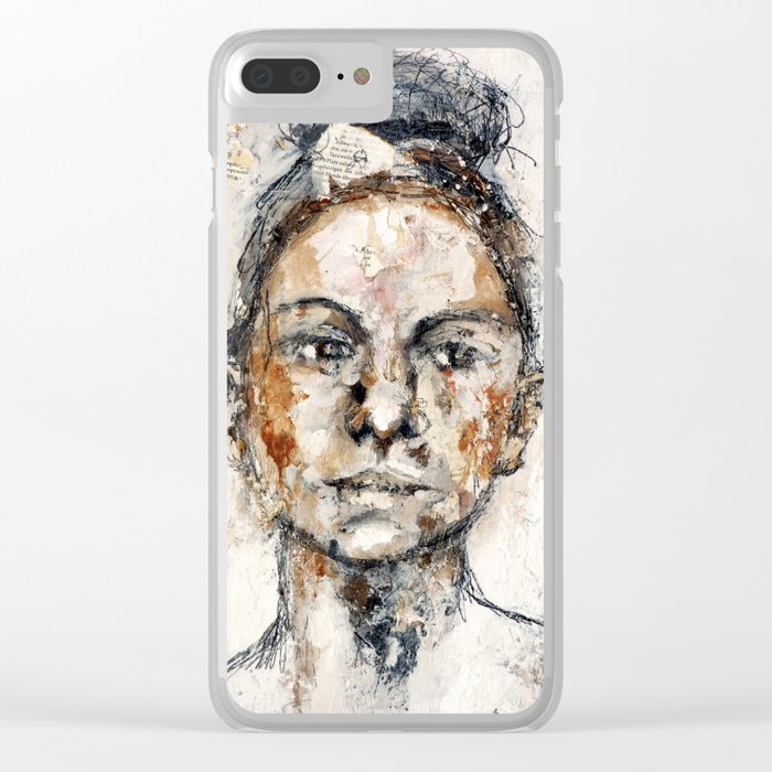 woman Clear iPhone Case
