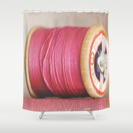 m is for magenta Shower Curtain