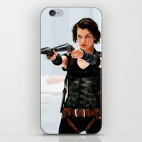 resident evil iPhone & iPod Skins featuring Milla Jovovich @ Resident Evil by Gabriel T Toro