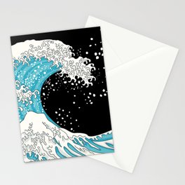 The Great Wave (night version) Stationery Cards