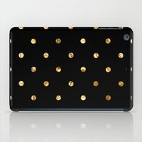 black and gold iPad Cases featuring Black & Gold by The Wellington Boot