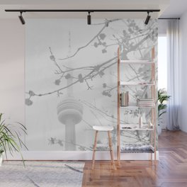 Somber tower Wall Mural
