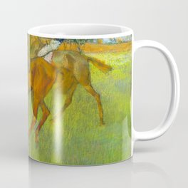 Before the Race - By Edgar Degas Coffee Mug