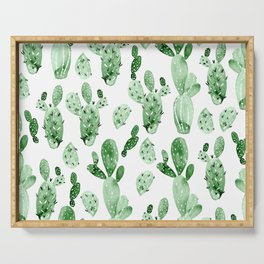 Green Cactus Field - Large Serving Tray