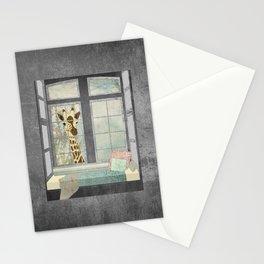 Bay Window Giraffe Stationery Cards