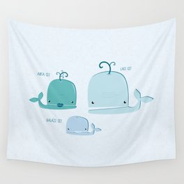 whale family Wall Tapestry
