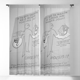 Affiche dat waarschuwt tegen de kosten die het dagelijks drinken van alcohol met, Bestanddeelnr 254 Blackout Curtain