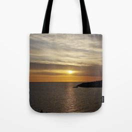 Sunset over the sea of Gaeta Tote Bag