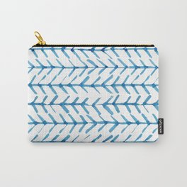 Indigo Arrow Pattern Carry-All Pouch