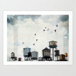 Watertanks 2 Art Print