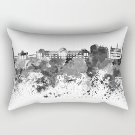 Brussels skyline in black watercolor Rectangular Pillow