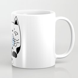 Cat with a fish Coffee Mug