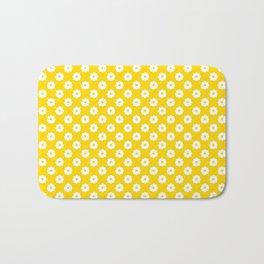 60s Ditsy Daisy Floral in Sunshine Yellow Bath Mat