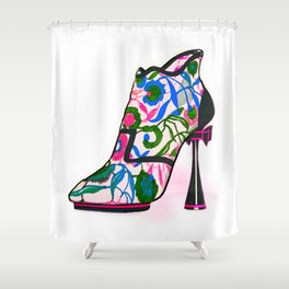 Colourful Bootie Shower Curtain