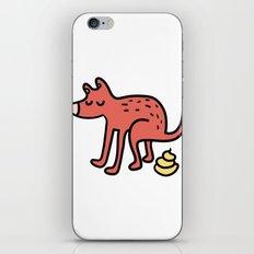 Pooping dog iPhone & iPod Skin