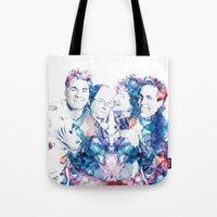 seinfeld Tote Bags featuring Seinfeld by NKlein Design