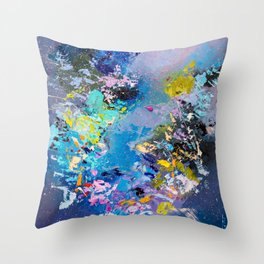 Strangers in space Throw Pillow