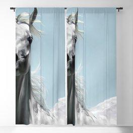 Arabian White Horse Painting Blackout Curtain