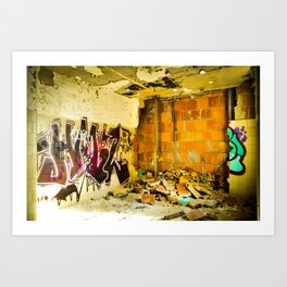 Broken Graffiti Art Print