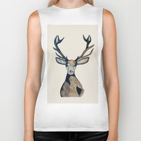 stag Biker Tanks featuring Stag by The Art Hutch
