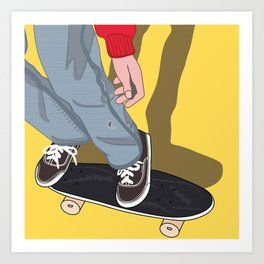 Penny Board Art Print