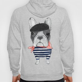 Frenchie with Arc de Triomphe Hoody