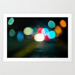 Northern California Lights Art Print