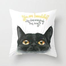 Black - Cat Throw Pillow