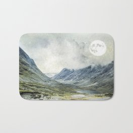 Supermoon in Norway Bath Mat