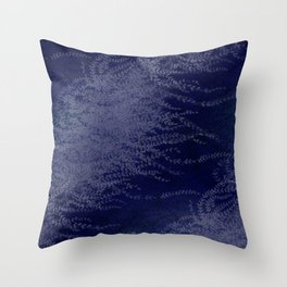 5 Wind-whipped Vines (blue II) Throw Pillow
