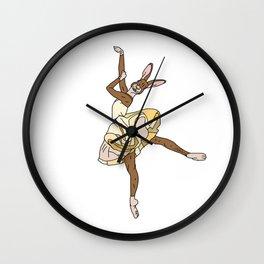 Bunny Rabbit Ballerina Tutu Wall Clock