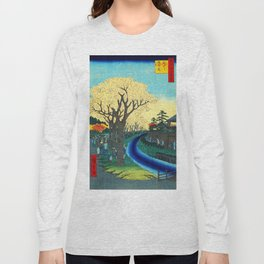 Cherry Blossoms on the Tama River Long Sleeve T-shirt