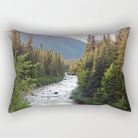 Mountain River Rectangular Pillow