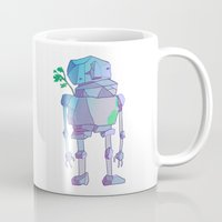 giants Mugs featuring Stone Giants by Emily Joan Campbell