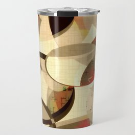 Mod art, circle art, Mid Century Modern Travel Mug