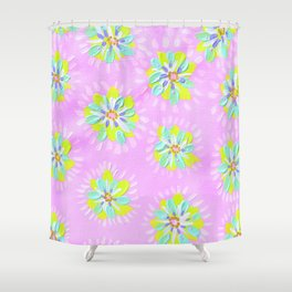 Lemon Petal Rose Shower Curtain