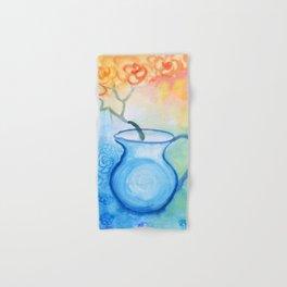 Cherry flowers in the blue jug Hand & Bath Towel