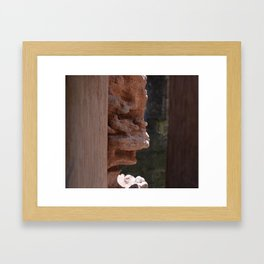 Sandstone in Conwy Castle Framed Art Print