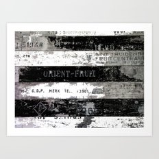 Grungy Vintage Recycled  FruitBoxes Art Print