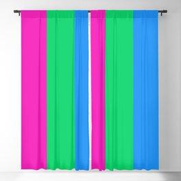 Polysexual Pride Flag LGBTQ Blackout Curtain