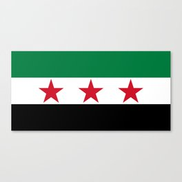 Independence Flag of Syrian, High quality Canvas Print