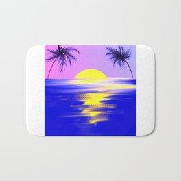 Tropical sunset design Bath Mat