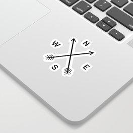 Compass (Natural) Sticker